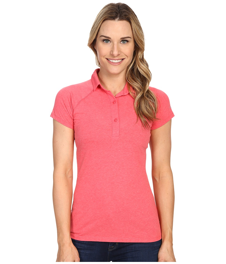 Columbia - Silver Ridge Zero Polo (Bright Geranium Heather) Women's Short Sleeve Pullover