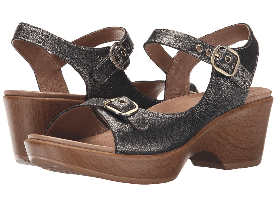 Dansko - Joanie (Pewter Burnished Metallic) Women's Sling Back Shoes