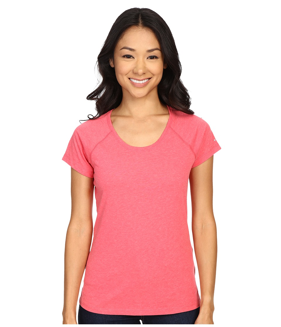 Columbia - Silver Ridge Zero Short Sleeve Shirt (Bright Geranium Heather) Women's Short Sleeve Pullover