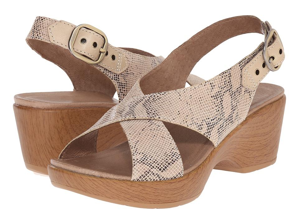 Dansko - Jacinda (Taupe Snake) Women's Sling Back Shoes