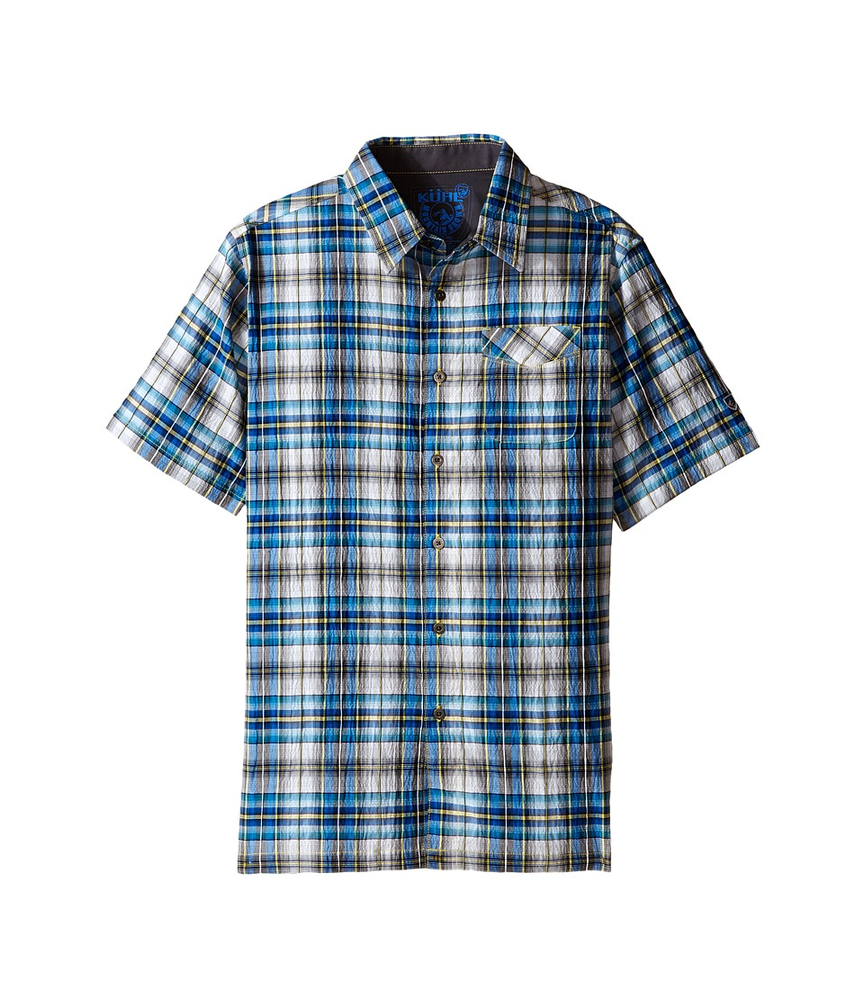 KUHL Kids - Boy's Stallion (Little Kids/Big Kids) (Blue Fuzion) Boy's Short Sleeve Button Up