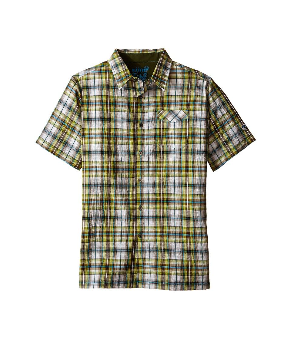 KUHL Kids - Boy's Stallion (Little Kids/Big Kids) (Skuba Lime) Boy's Short Sleeve Button Up