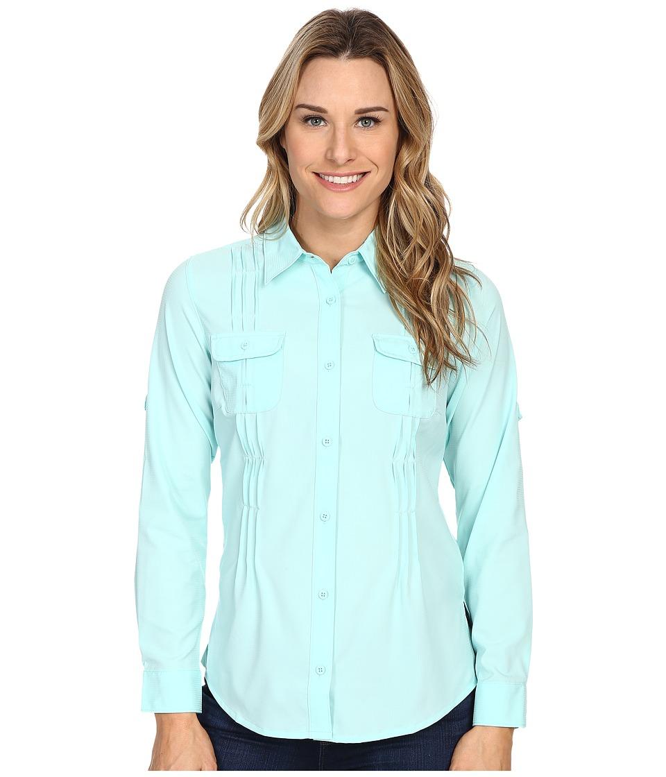 Columbia - Sun Goddess II L/S Shirt (Ocean Water) Women's Long Sleeve Button Up