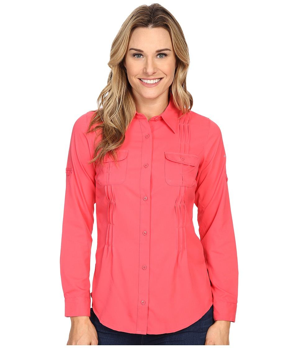 Columbia - Sun Goddess II L/S Shirt (Bright Geranium) Women's Long Sleeve Button Up