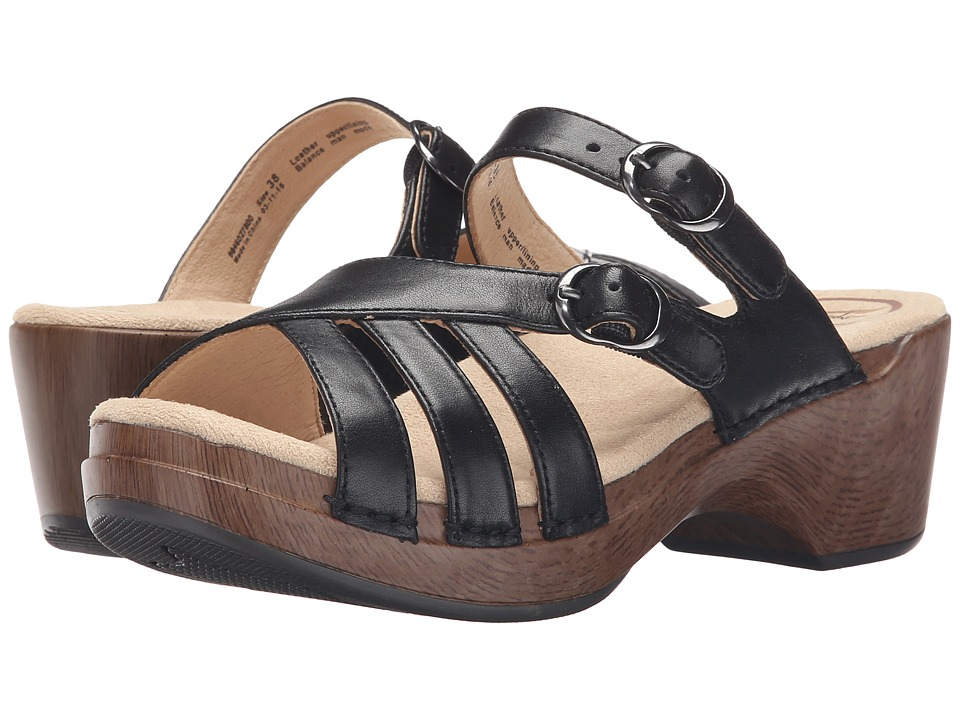 Dansko - Shelby (Black Full Grain) Women's Sandals