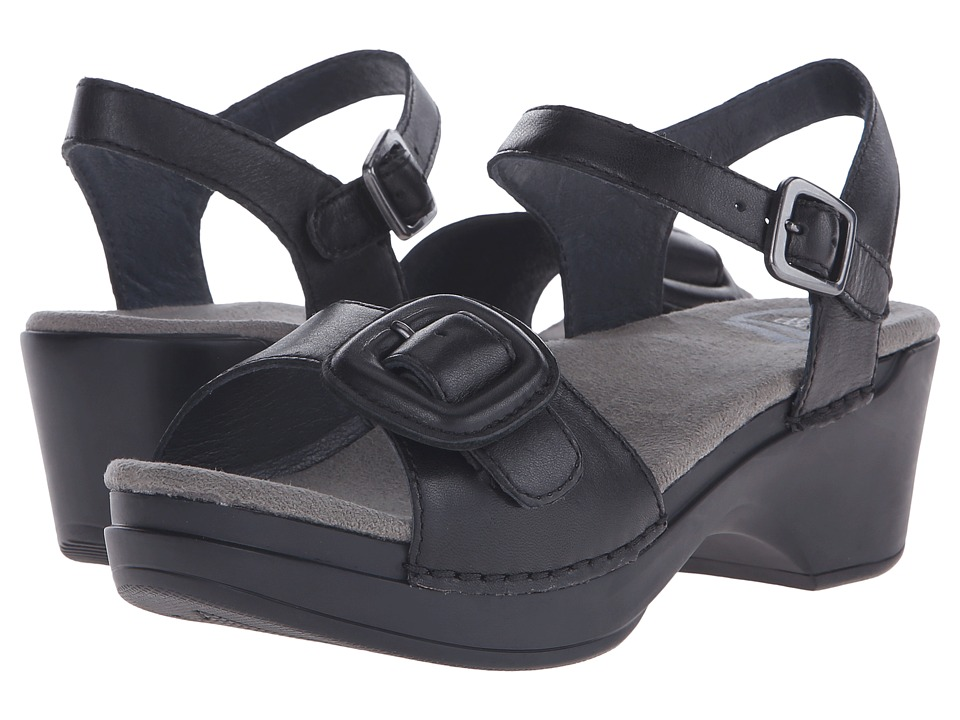 Dansko - Sue (Black Full Grain) Women's Sandals