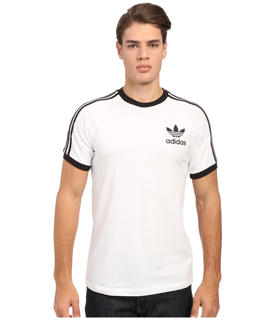 adidas Originals - California Tee (White/Black) Men's T Shirt