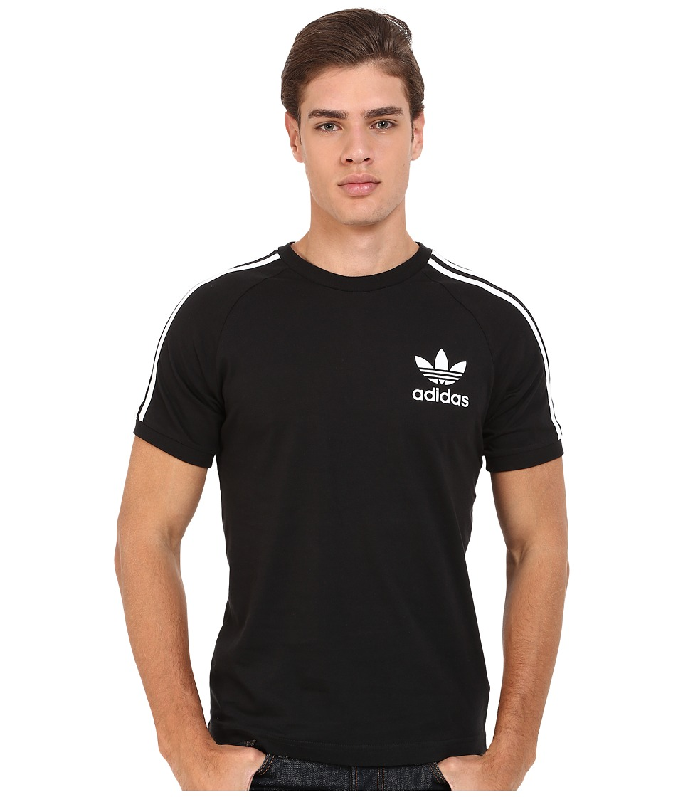 adidas Originals - California Tee (Black/White) Men's T Shirt