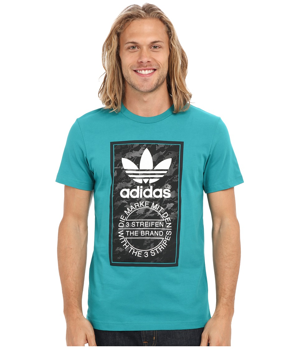 adidas Originals - Camo Tongue Label Tee (EQT Green/White/Black) Men's T Shirt
