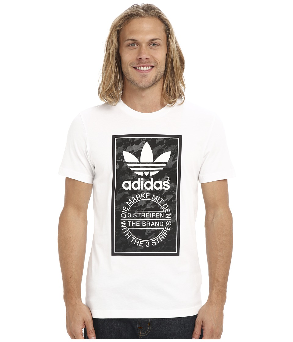 adidas Originals - Camo Tongue Label Tee (White/Black) Men's T Shirt