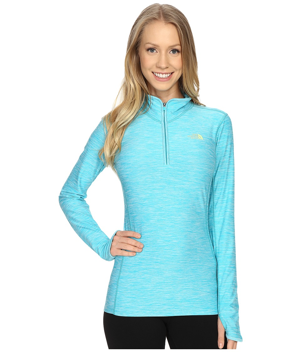 The North Face - Motivation 1/4 Zip Pullover (Bluebird Heather) Women's Long Sleeve Pullover