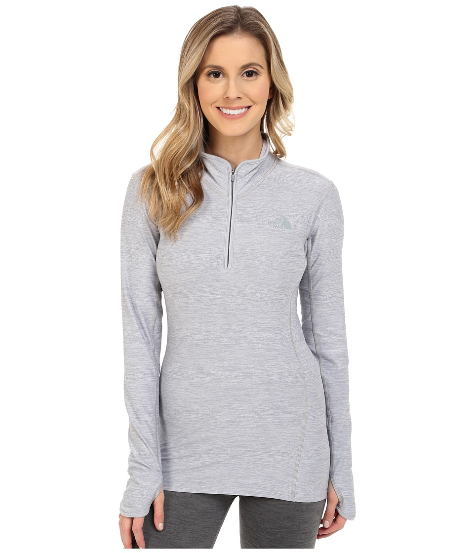 The North Face - Motivation 1/4 Zip Pullover (TNF Light Grey Heather (Prior Season)) Women's Long Sleeve Pullover