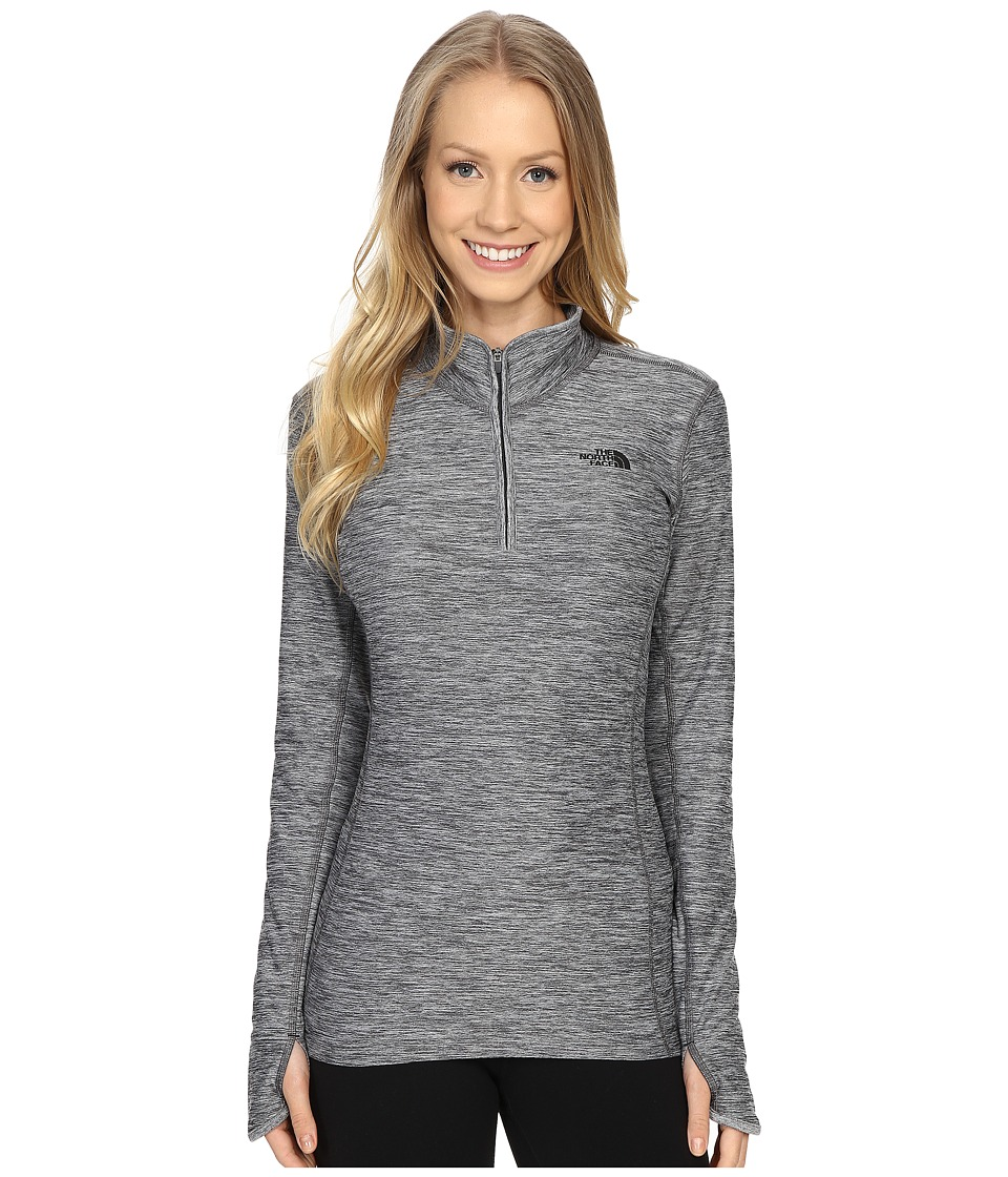 The North Face - Motivation 1/4 Zip Pullover (TNF Dark Grey Heather) Women's Long Sleeve Pullover