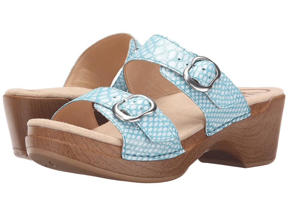 Dansko - Sophie (Turquoise Snake) Women's Sandals