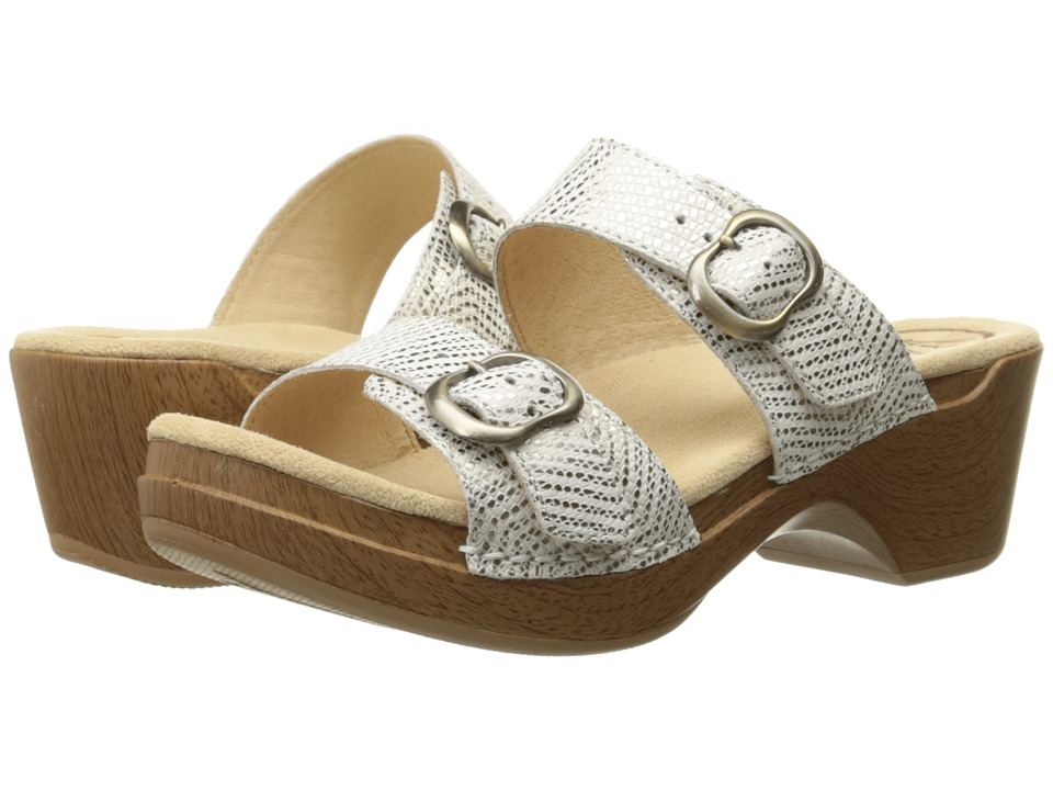 Dansko - Sophie (White Metallic) Women's Sandals