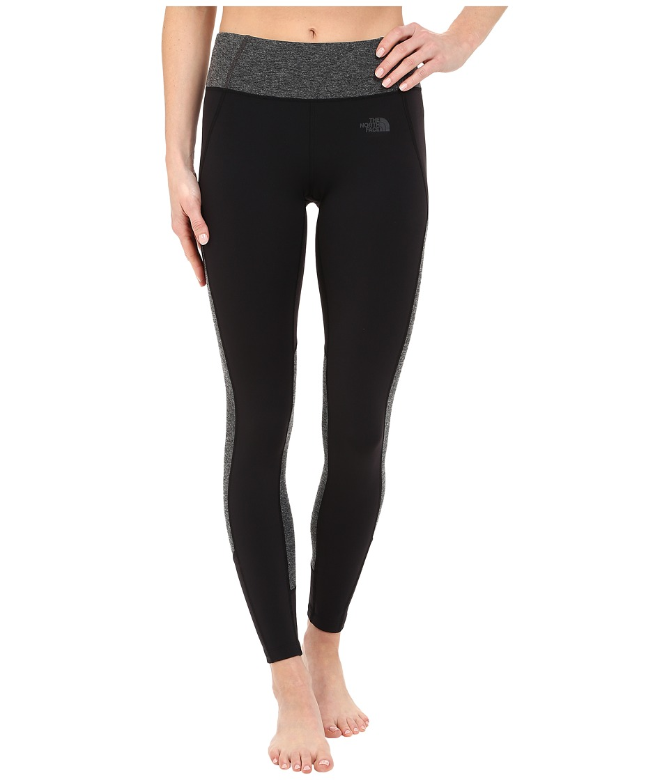 The North Face - Motivation Color Block Printed Leggings (TNF Black/TNF Dark Grey Heather) Women's Casual Pants
