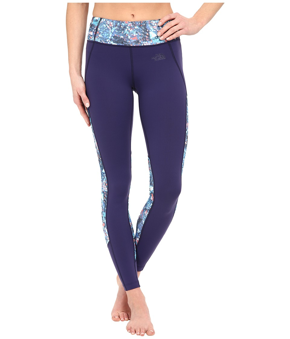 The North Face - Motivation Color Block Printed Leggings (Patriot Blue Gem Party Print) Women's Casual Pants