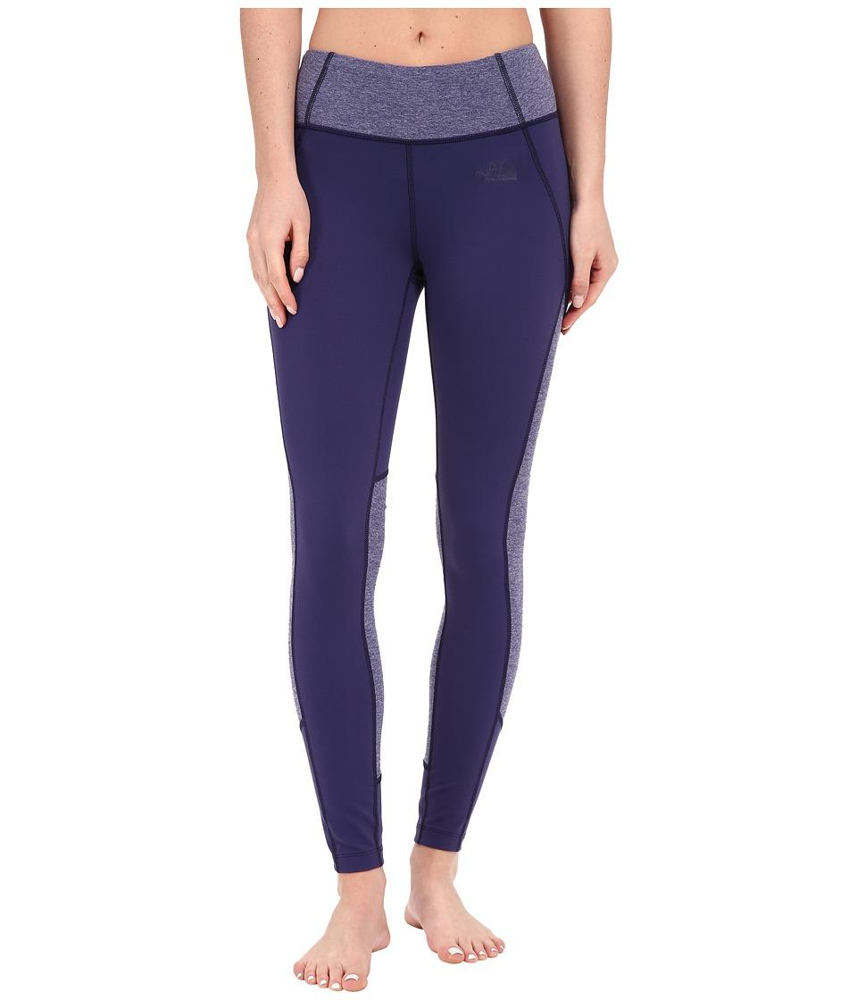The North Face - Motivation Color Block Printed Leggings (Patriot Blue/Patriot Blue Heather) Women's Casual Pants