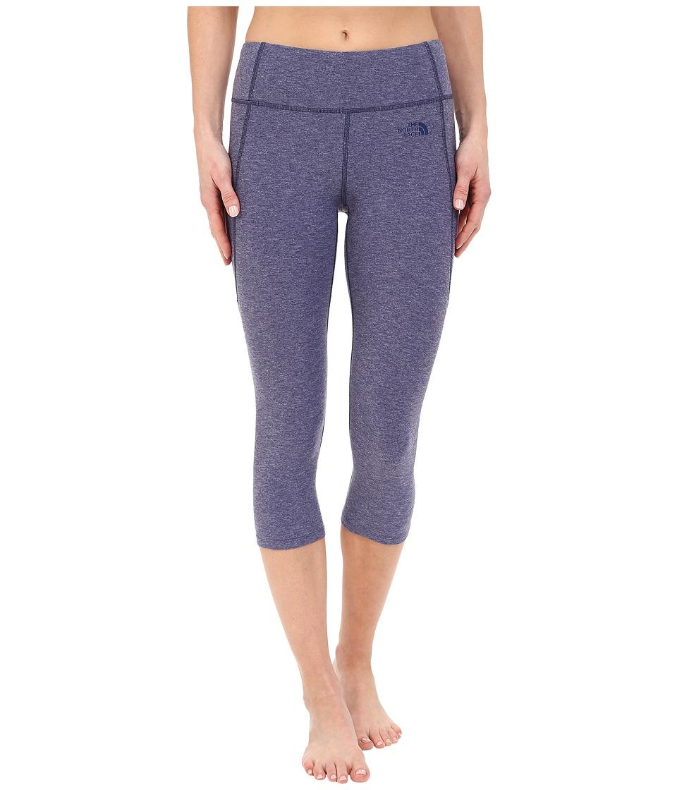 The North Face - Motivation Crop Leggings (Patriot Blue Heather) Women's Casual Pants