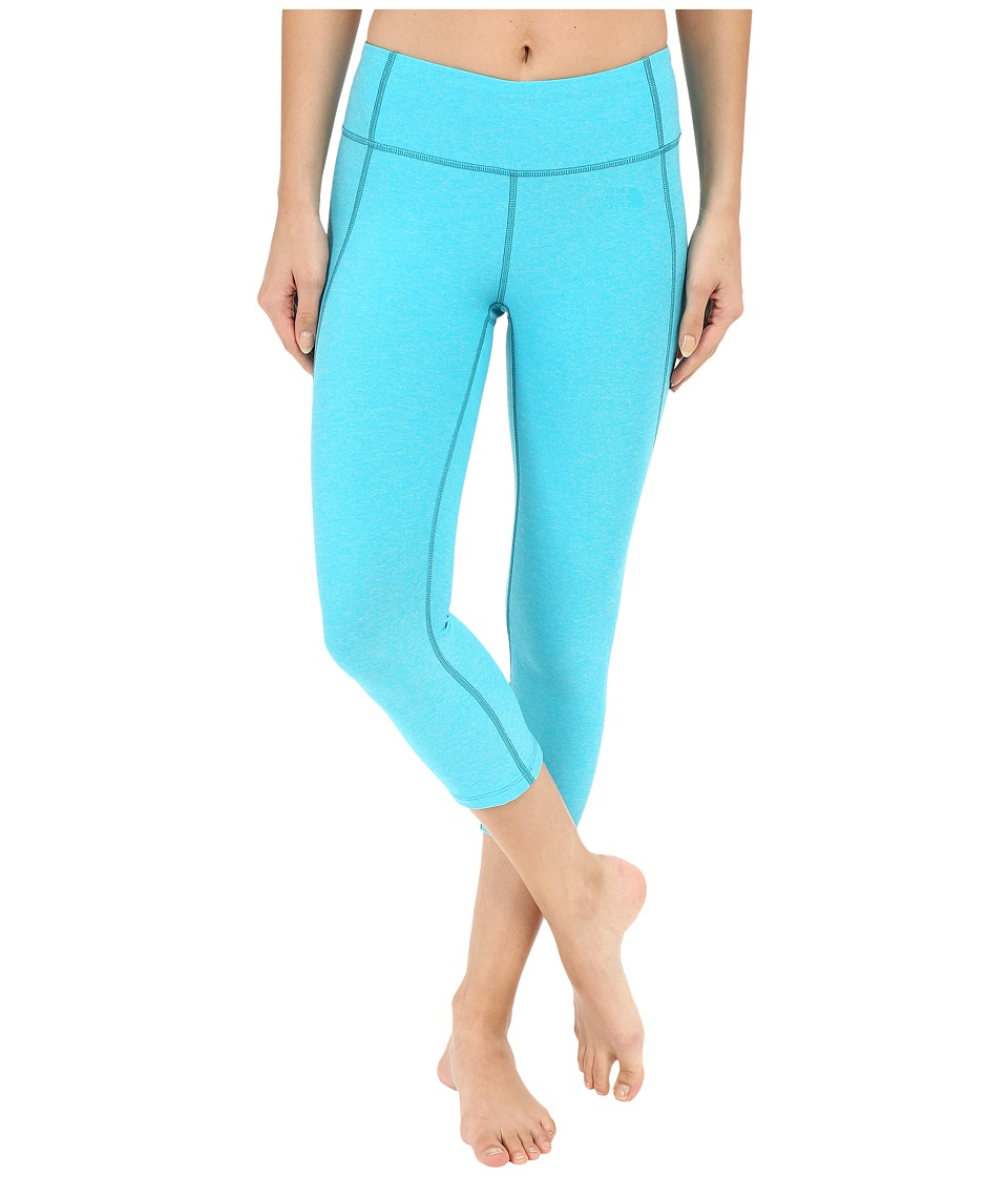 The North Face - Motivation Crop Leggings (Bluebird Heather) Women's Casual Pants