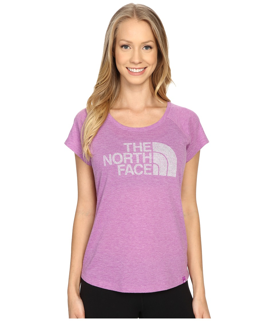 The North Face Burnout Short Sleeve (Sweet Violet Heather) Women