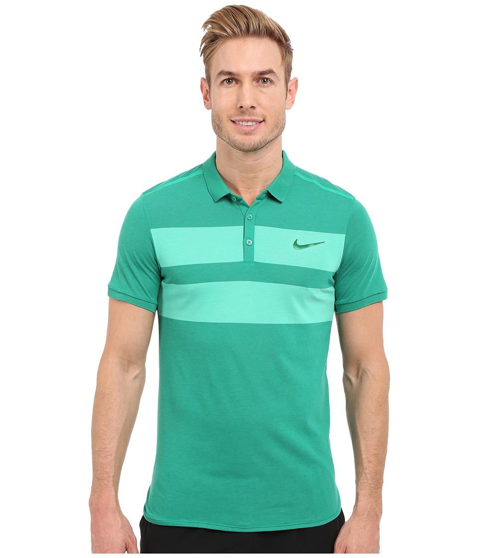 Nike - Advanced Dri-FIT Cool Polo (Lucid Green/Pine Green) Men's Clothing