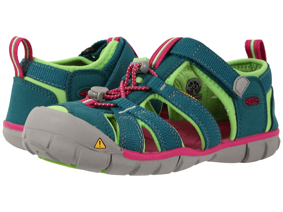 Keen Kids - Seacamp II CNX (Little Kid/Big Kid) (Everglade/Jasmine Green) Girls Shoes