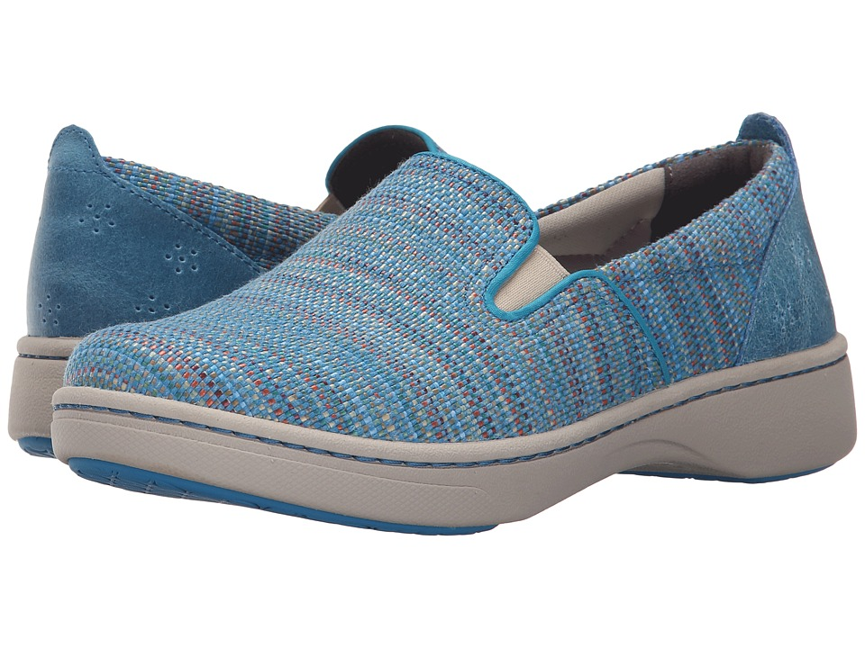 Dansko Belle (Blue Textured Canvas) Women