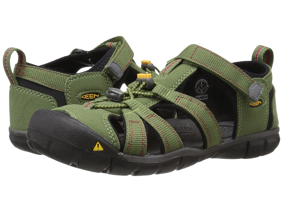Keen Kids - Seacamp II CNX (Little Kid/Big Kid) (Bronze Green/Chili Pepper) Boys Shoes