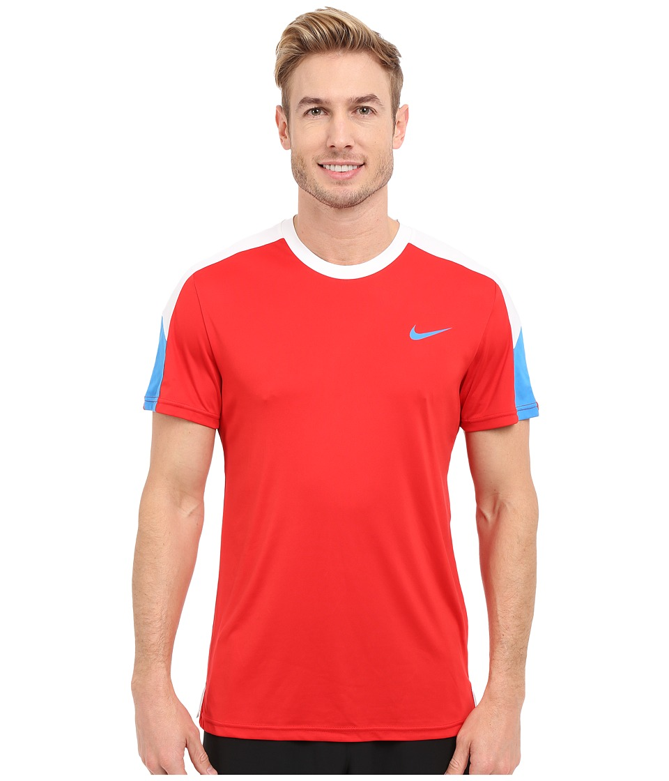 Nike - Team Court Crew (University Red/White/Light Photo Blue/Light Photo Blue) Men's T Shirt