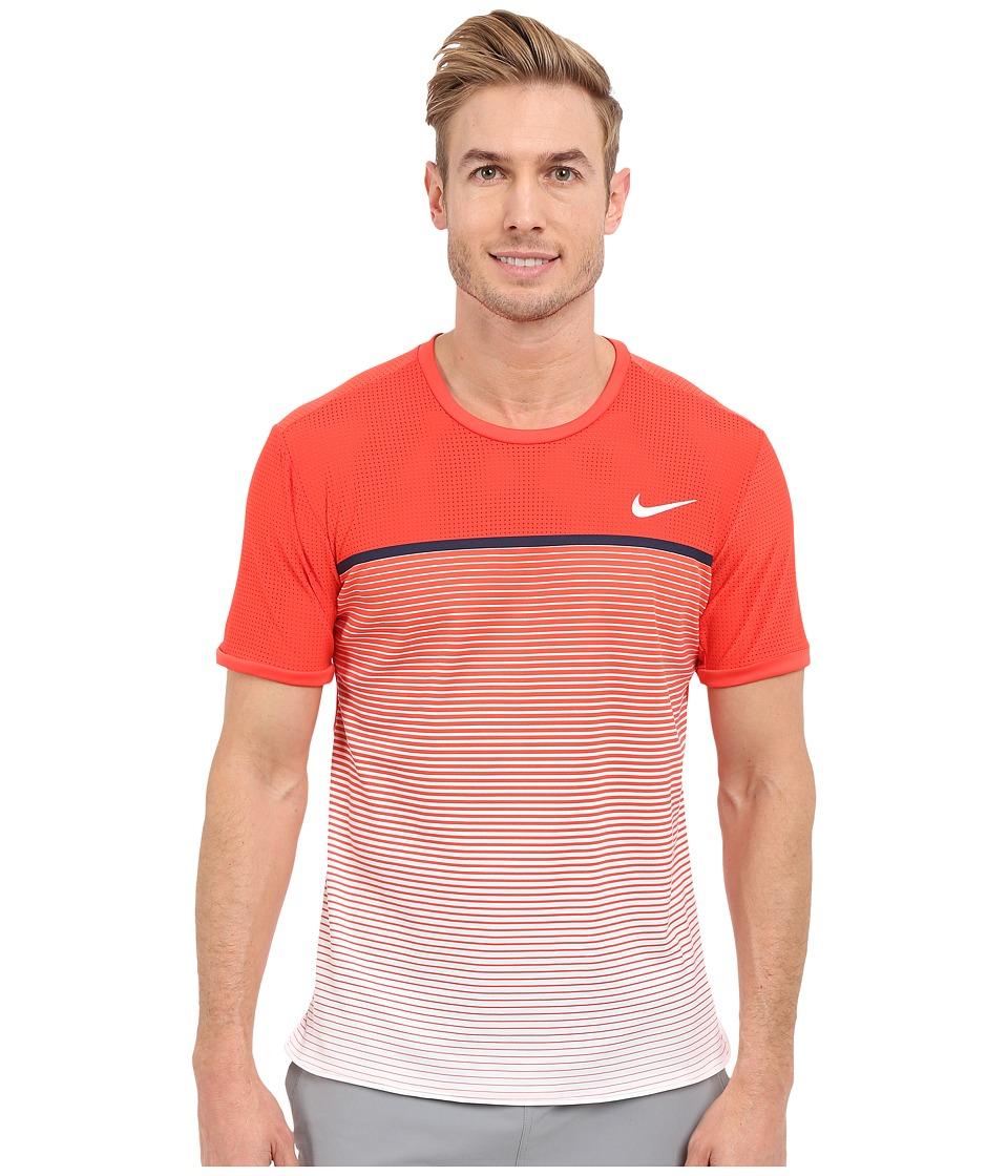 Nike - Challenger Premier Crew (Light Crimson/White) Men's Short Sleeve Pullover