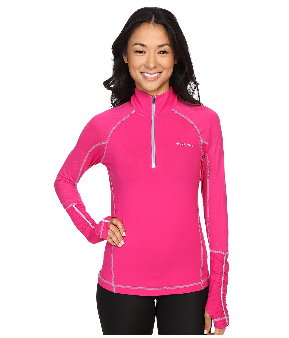 Columbia - Trail Flash 1/2 Zip Shirt (Haute Pink/Beacon) Women's Long Sleeve Pullover