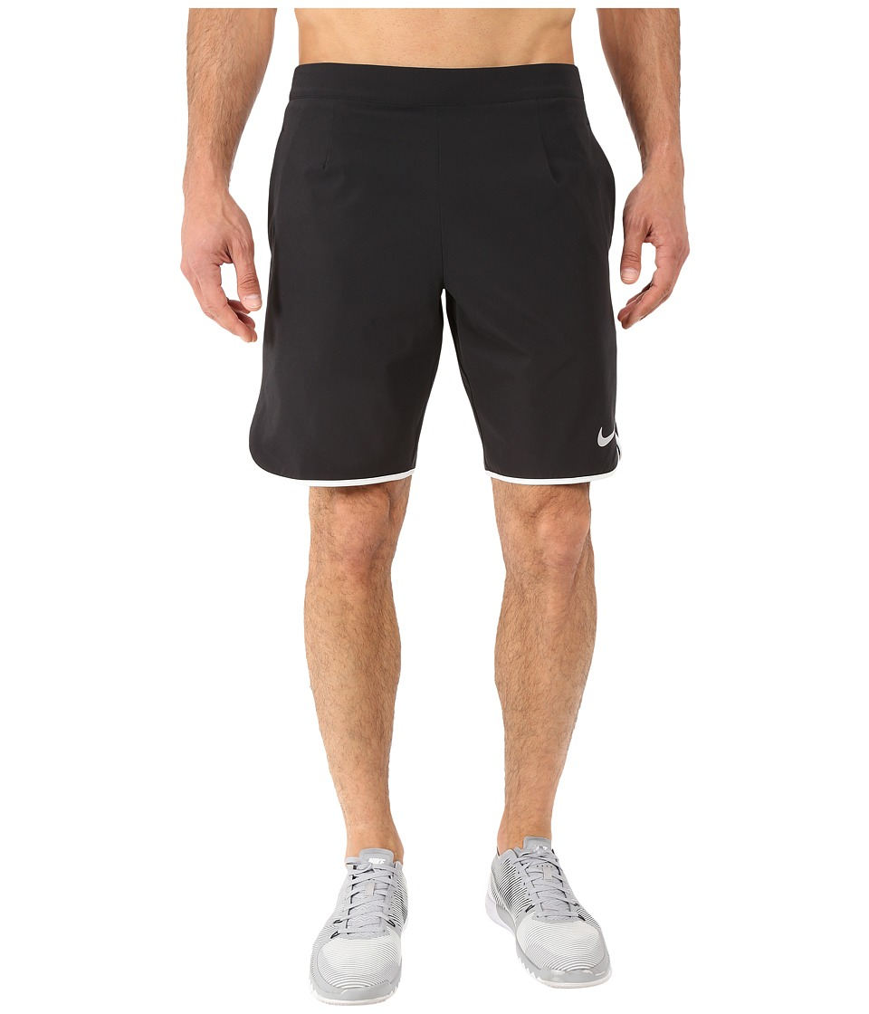 Nike Gladiator 9 Tennis Short (Black/White) Men