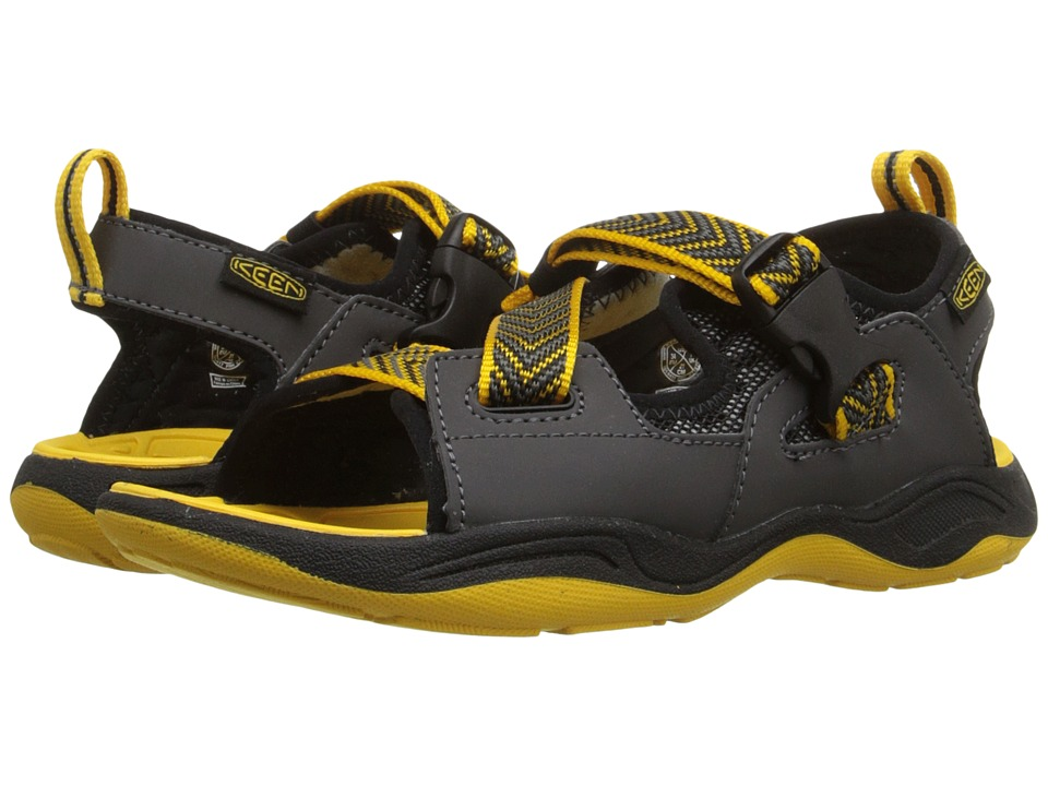 Keen Kids - Rock Iguana (Little Kid/Big Kid) (Black/Yellow) Boy's Shoes