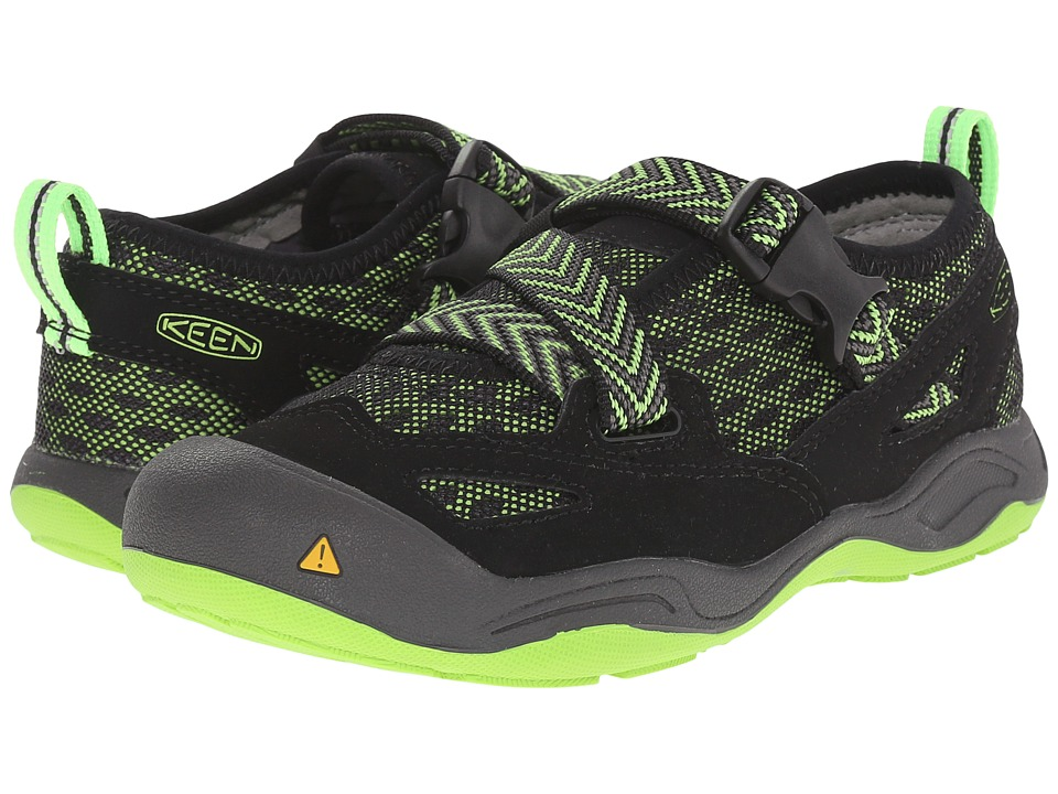 Keen Kids - Komodo Dragon (Little Kid/Big Kid) (Black/Jasmine Green) Boy's Shoes