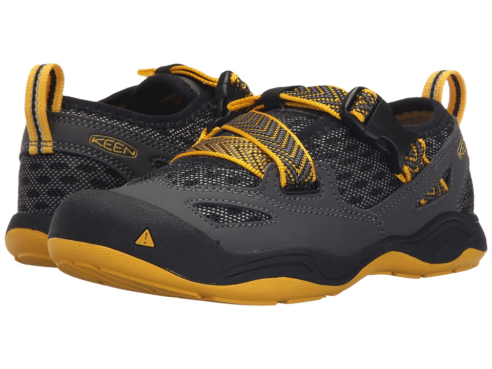 Keen Kids - Komodo Dragon (Little Kid/Big Kid) (Black/Yellow) Boy's Shoes