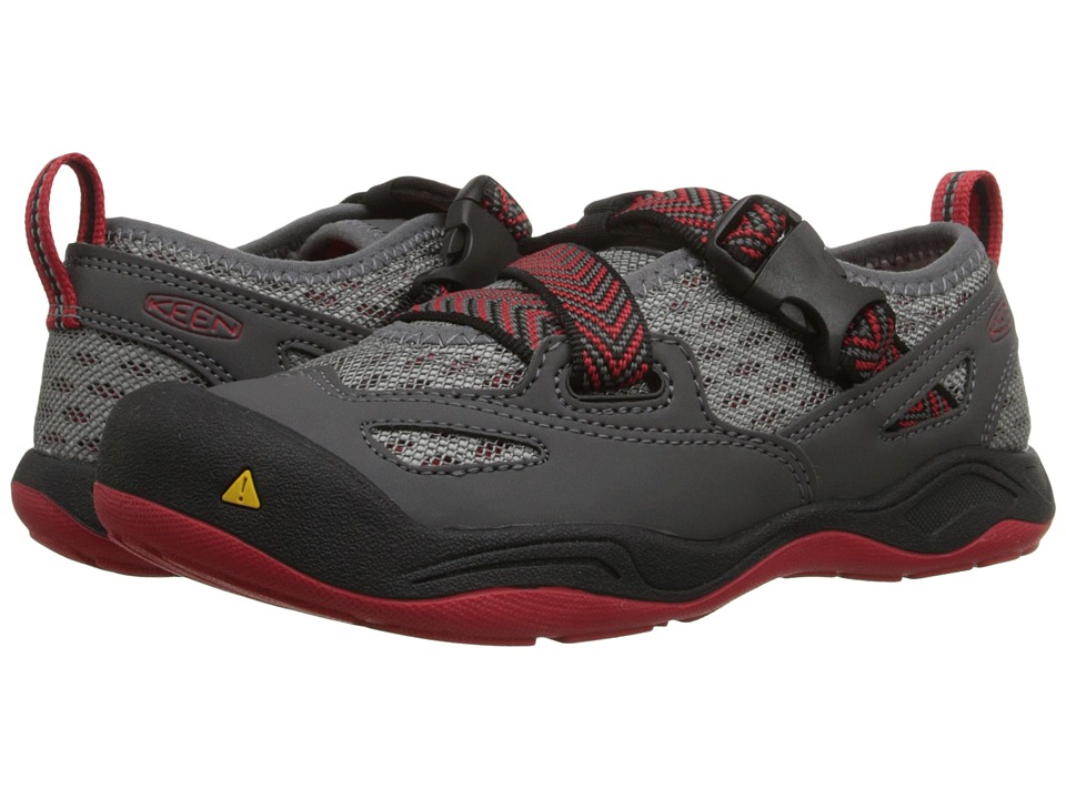 Keen Kids - Komodo Dragon (Little Kid/Big Kid) (Magnet/Racing Red) Boy's Shoes