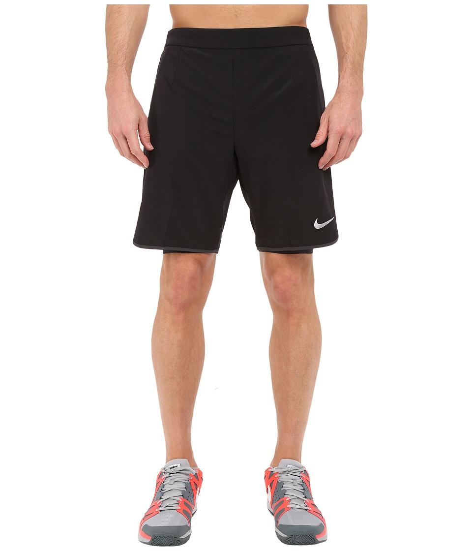 Nike - Gladiator 2-in-1 Shorts (Black/Anthracite/White) Men's Shorts