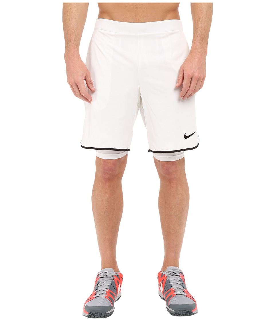 Nike - Gladiator 2-in-1 Shorts (White/Black/Black) Men's Shorts