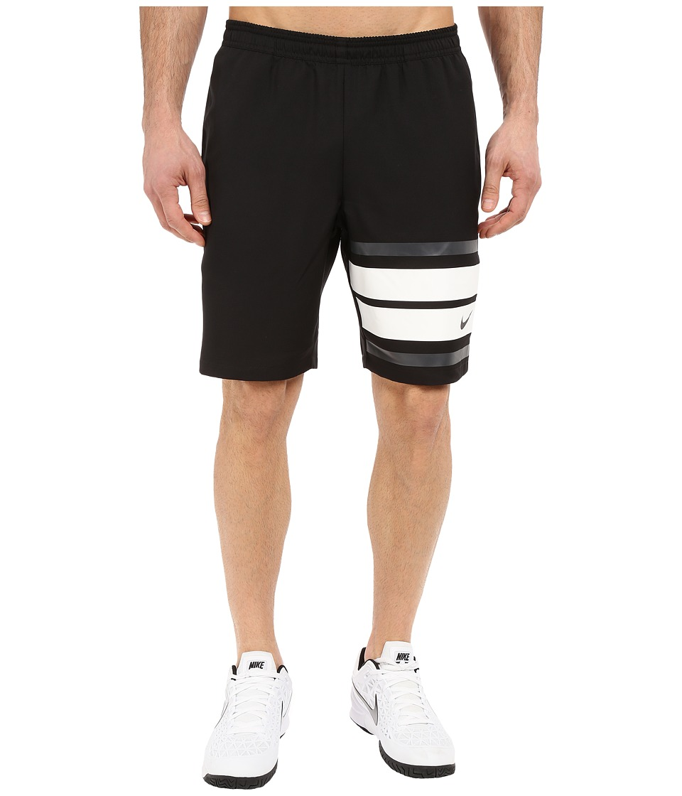 Nike - Court 9 Graphic Tennis Short (Black/Black) Men's Shorts