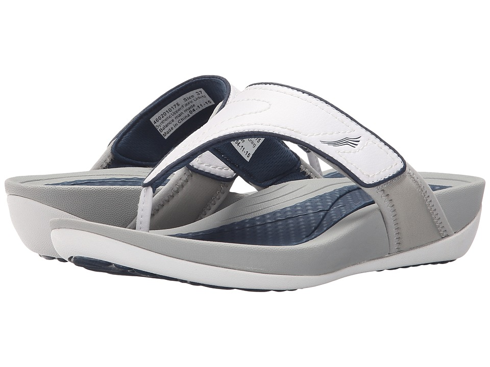 Dansko - Katy 2 (White/Navy Smooth) Women's Sandals