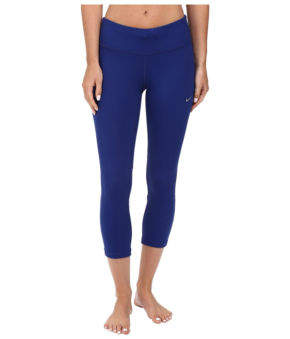 Nike - Dri-FIT Epic Run Crop (Deep Royal Blue/Deep Royal Blue/Reflective Silver) Women's Workout