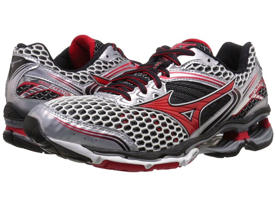 Mizuno - Wave Creation 17 (Silver/Chinese Red/Black) Men's Running Shoes
