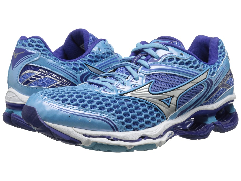 Mizuno - Wave Creation 17 (Blue Grotto/Silver/Clematis Blue) Women's Running Shoes