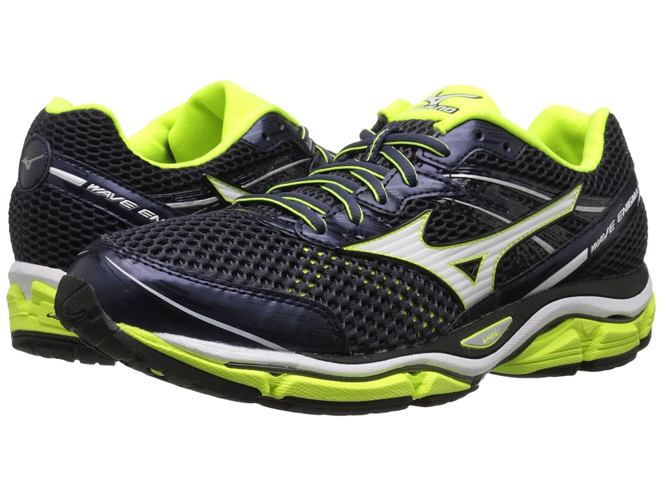 Mizuno - Wave Enigma 5 (Ombre Blue/White/Safety Yellow) Men's Running Shoes