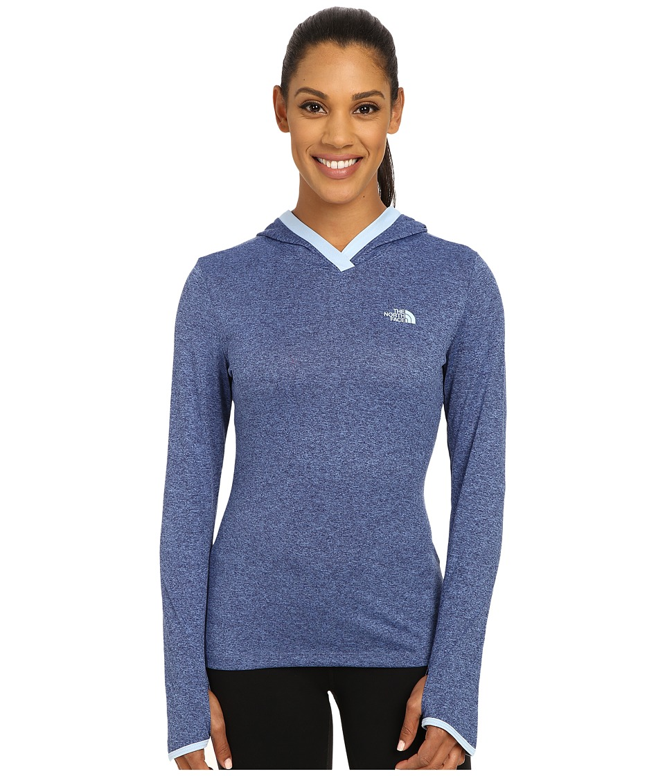 The North Face - Reactor Hoodie (Patriot Blue Heather/Powder Blue) Women's Sweatshirt