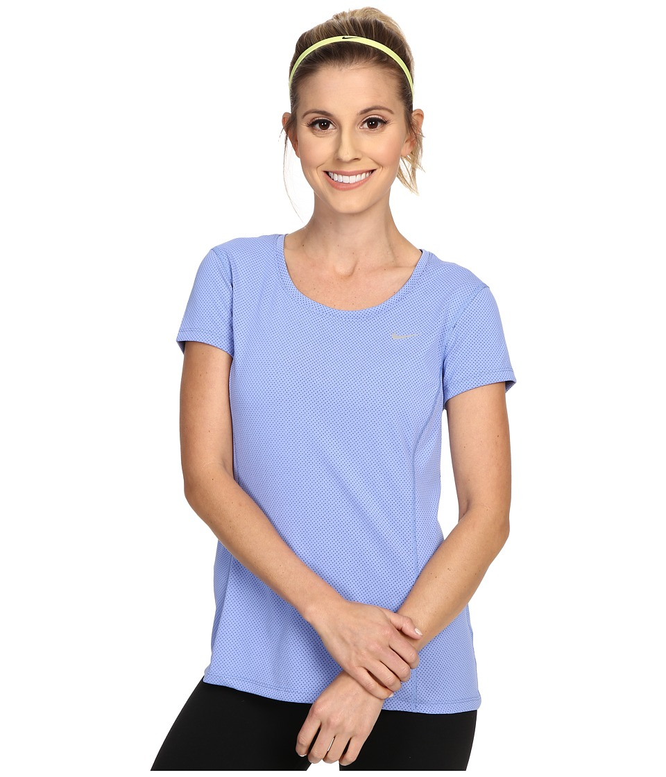 Nike - Dri-FIT Contour Short Sleeve (Chalk Blue/Reflective Silver) Women's Short Sleeve Pullover
