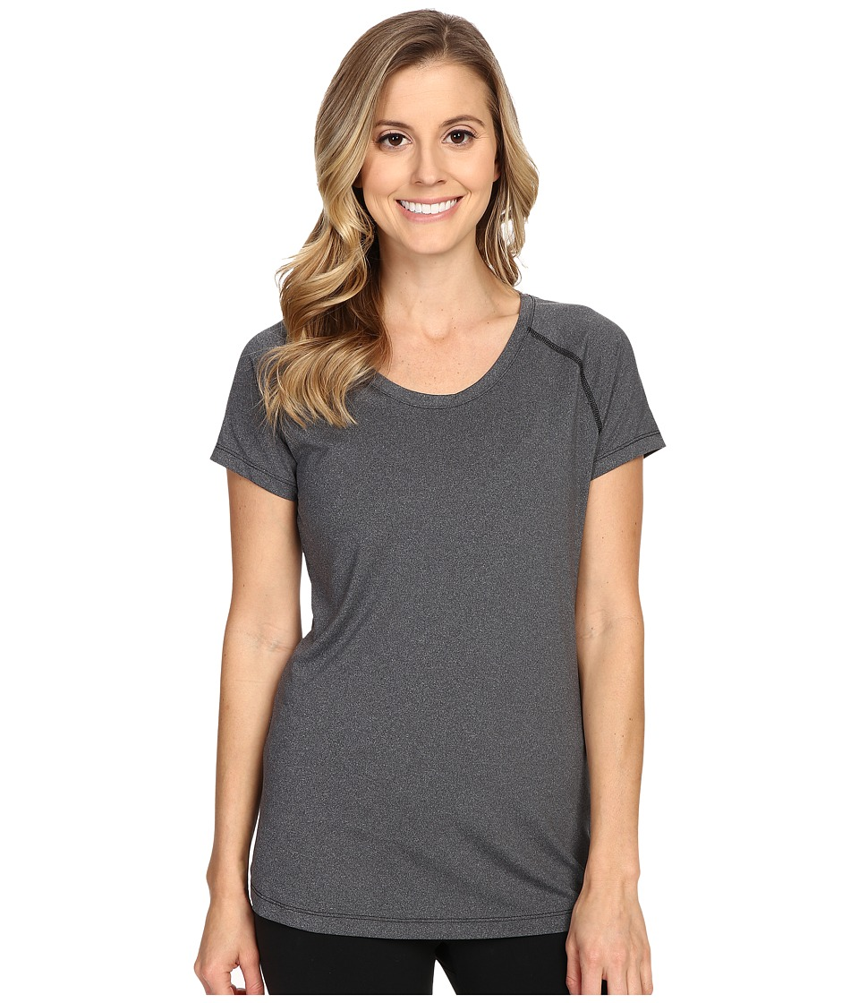Columbia - Tuk Mountain Short Sleeve Shirt (Black Heather) Women's Short Sleeve Pullover