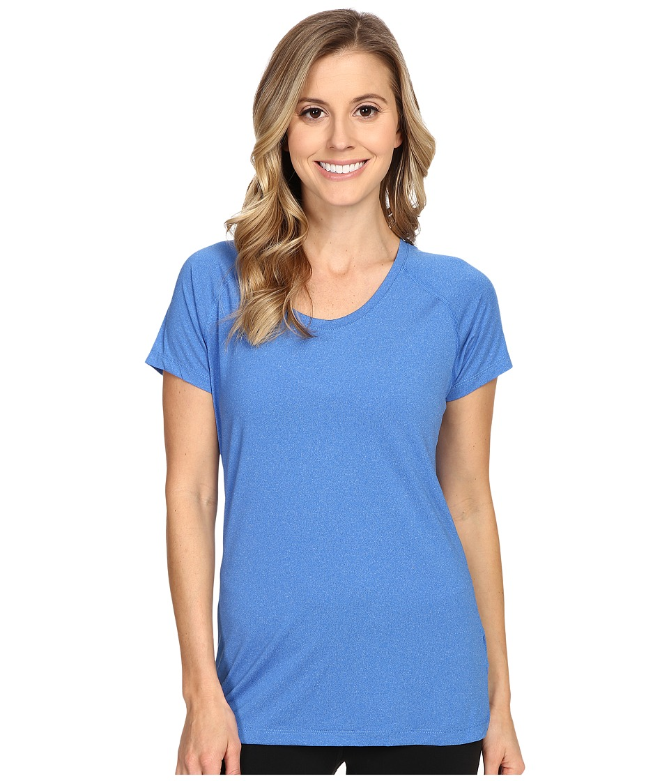 Columbia - Tuk Mountain Short Sleeve Shirt (Stormy Blue Heather) Women's Short Sleeve Pullover