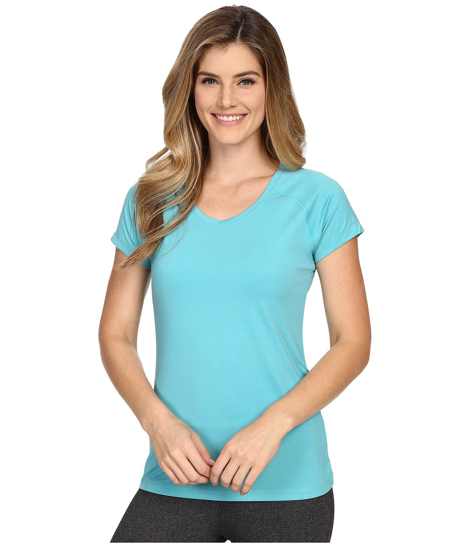Columbia - Tuk Mountain Short Sleeve Shirt (Miami Heather) Women's Short Sleeve Pullover